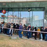 Возле офиса Turkish Airlines в Москве выстроилась очередь