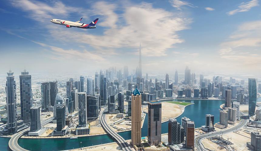 Российские туристы прилетели в Дубай на рейсе AZUR air