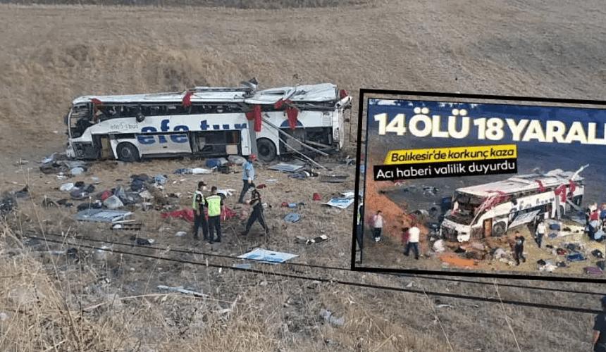 14 человек погибли в ДТП с автобусом на западе Турции